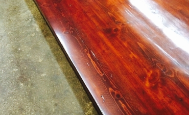 Wood Slab Table Refinish